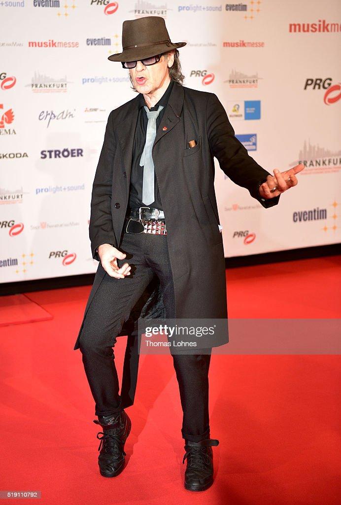 Udo Lindenberg attends the LEA Live Entertainment Award 2016 at Festhalle Frankfurt on April 4 2016 in Frankfurt am Main Germany