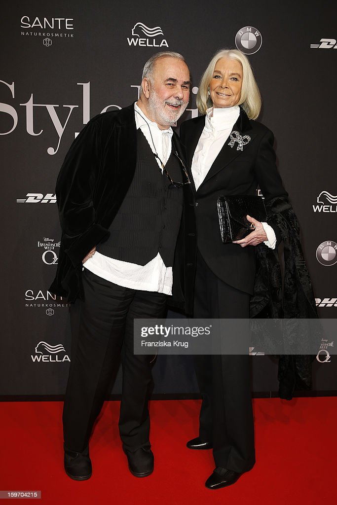 Udo Walz and Gloria attend the 'Michalsky Style Nite Arrivals - Mercesdes-Benz Fashion Week Autumn/Winter 2013/14' at Tempodrom on January 18, 2013 in Berlin, Germany.