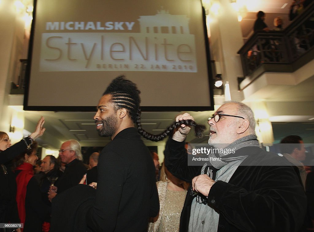 <a gi-track='captionPersonalityLinkClicked' href=/galleries/search?phrase=Udo+Walz&family=editorial&specificpeople=587567 ng-click='$event.stopPropagation()'>Udo Walz</a> and guest arrive at the Michalsky Style Night during the Mercedes-Benz Fashion Week Berlin Autumn/Winter 2010 at the Friedrichstadtpalast on January 22, 2010 in Berlin, Germany.