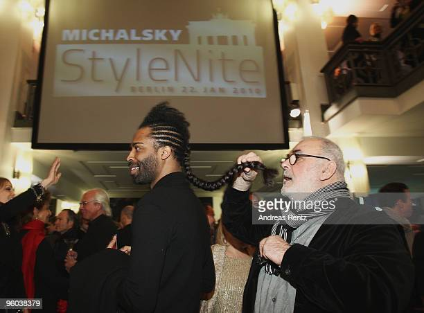 Udo Walz and guest arrive at the Michalsky Style Night during the MercedesBenz Fashion Week Berlin Autumn/Winter 2010 at the Friedrichstadtpalast on...
