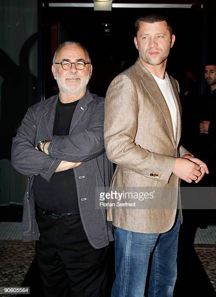 Udo Walz and his husband Carsten Thamm arrive at the wedding dinner party the day after the wedding of Barbara Becker and Arne Quinze at Q Hotel on...