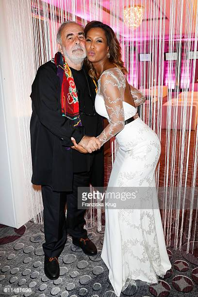 Udo Walz and Model Marie Amiere attend the Dreamball 2016 at Ritz Carlton on September 29 2016 in Berlin Germany