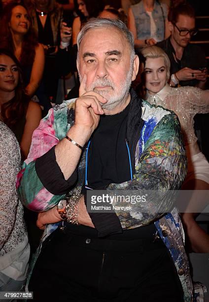 Udo Walz attends the Guido Maria Kretschmer show during the MercedesBenz Fashion Week Berlin Spring/Summer 2016 at Brandenburg Gate on July 8 2015 in...
