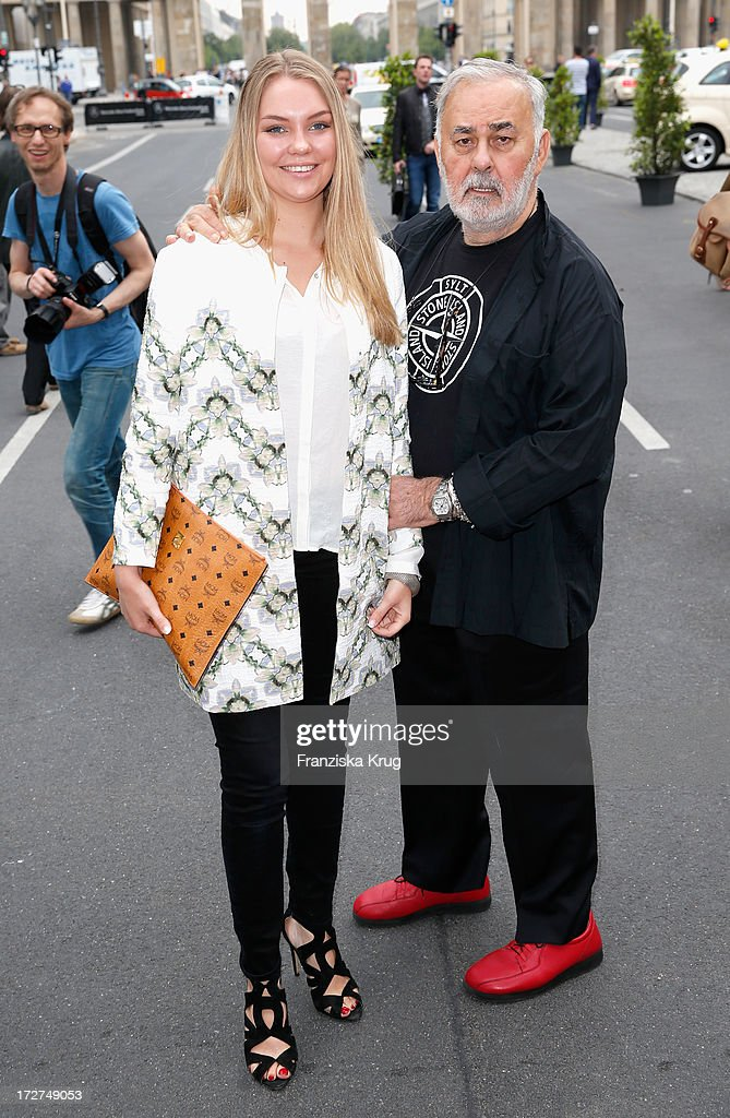 Udo Walz (R) attends the Schumacher Show during Mercedes-Benz Fashion Week Spring/Summer 2014 at Brandenburg Gate on July 4, 2013 in Berlin, Germany.