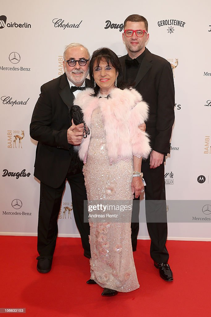 Udo Walz, husband Carsten Thamm and Regine Sixt attends 'BAMBI Awards 2012' at the Stadthalle Duesseldorf on November 22, 2012 in Duesseldorf, Germany.