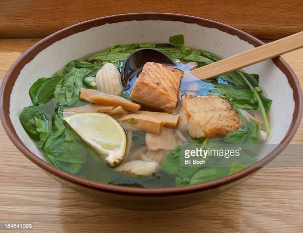 Udon noodle seafood soup