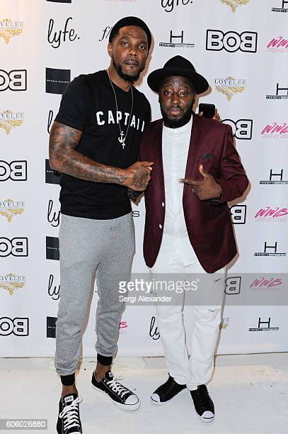 Udonis Haslem and Bob Metelus attend Haitian photographer Bob Metelus unveils newest collection Haiti A Collective Cry from a Forgotten Paradise on...