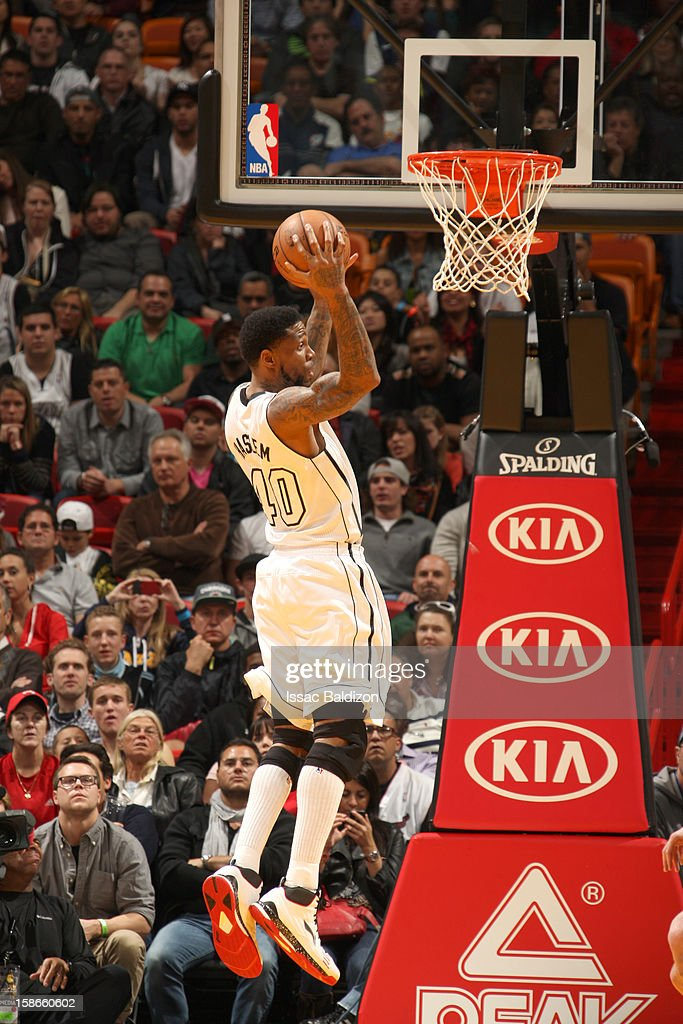 <a gi-track='captionPersonalityLinkClicked' href=/galleries/search?phrase=Udonis+Haslem&family=editorial&specificpeople=201748 ng-click='$event.stopPropagation()'>Udonis Haslem</a> #40 of the Miami Heat goes to the basket during the game between the Utah Jazz and the Miami Heat on December 22, 2012 at American Airlines Arena in Miami, Florida.
