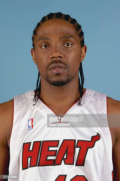 Udonis Haslem of the Miami Heat poses during NBA Media Day on October 2 2006 at American Airlines Arena in Miami Florida NOTE TO USER User expressly...