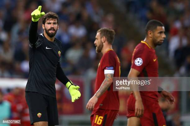 Group C Roma v Atletico de Madrid Alisson Becker of Roma at Olimpico Stadium in Rome Italy on September 12 2017