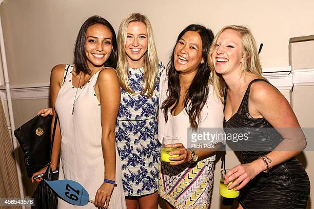 UEGs Clair Phillips UTA Foundations Stephanie Wong and 72andSunnys Laura Black attend the Samburu Splash Bash Event on September 27 2014 in Santa...