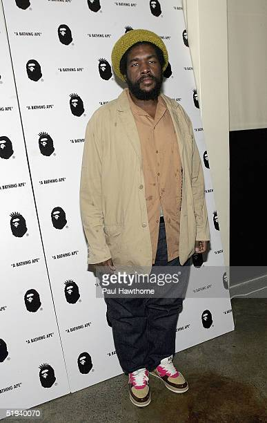 uestlove of The Roots attends the store opening of 'Nigo's A Bathing Ape' with Pharrell Williams after party at the Canal Room January 11 2005 in New...