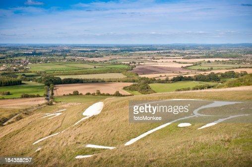 Uffington White Horse hill figure, Oxfordshire, UK