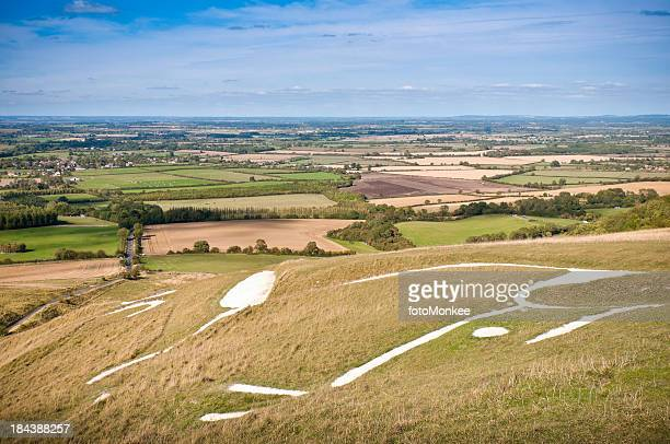 Uffington White Horse hill figure, Oxfordshire, UK