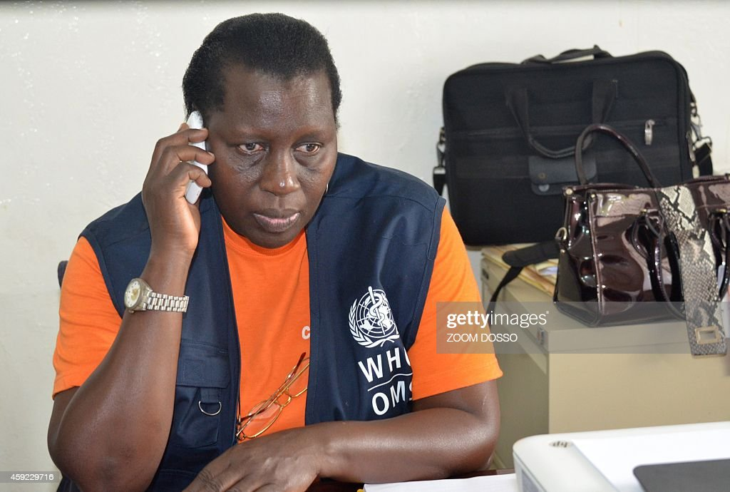Ugandan doctor Anne Atai Omoruto head of a medical unit of 12 health workers brought from Uganda by the World Health Organisation to fight the Ebola...