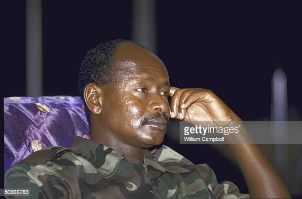 Uganda's Pres Yoweri K Museveni