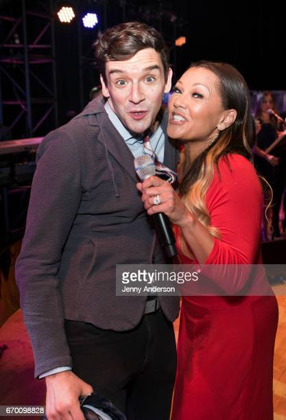 'Ugly Betty' stars Michael Urie and Vanessa Williams reunite during Concert For America Stand Up Sing Out at Town Hall on April 18 2017 in New York...