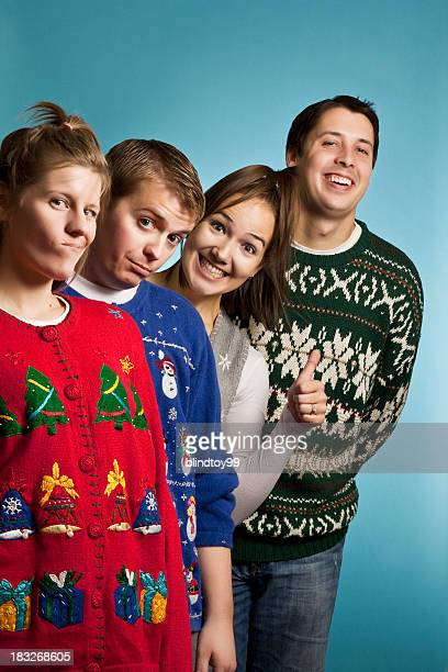 Ugly Sweater Group Happy