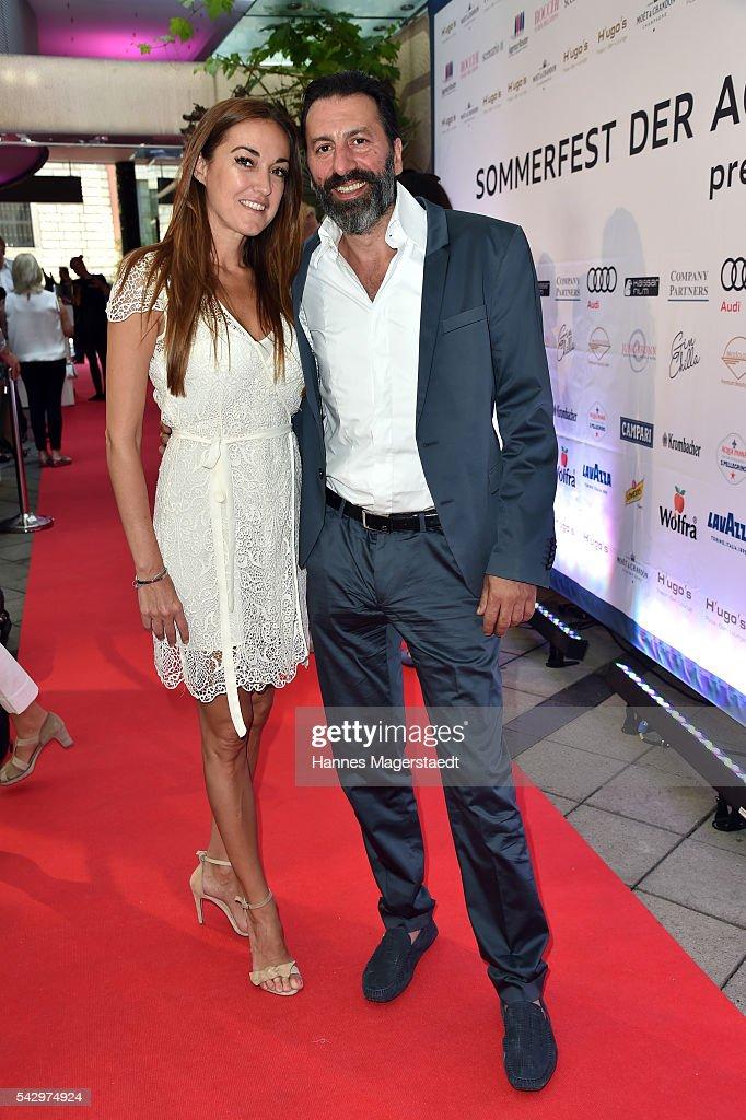 Ugo Crocamo and his partner Melanie Fischer the 'Sommerfest der Agenturen' at Hugo's on June 25, 2016 in Munich, Germany.