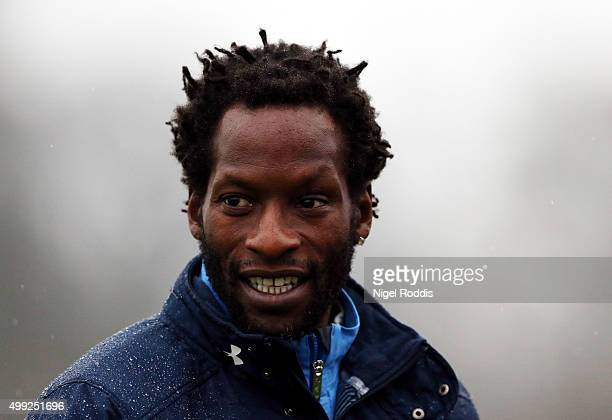 Ugo Ehiogu manager of Tottenham Hotspur U21 during their U21 Premier League match at Rockliffe Park on November 30 2015 in Darlington England