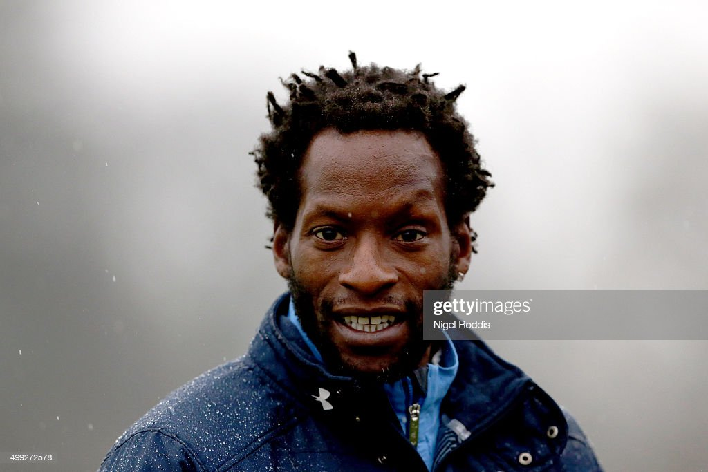 Ugo Ehiogu manager of Tottenham Hotspur U21 during their U21 Premier League match between Middlesbrough and Tottenham Hotspur at Rockliffe Park on November 30, 2015 in Darlington, England.