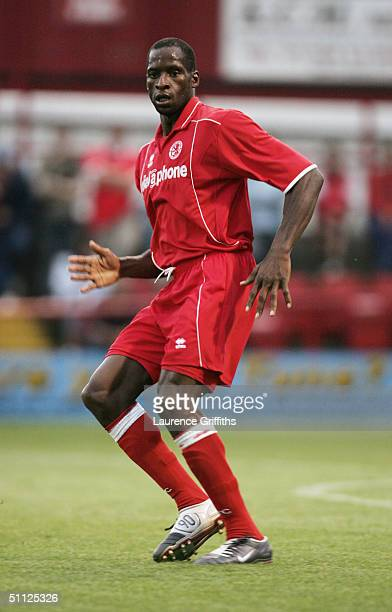 Ugo Ehiogu of Middlesbrough in action during the Pre Season Friendly match between Rotherham United and Middlesbrough at Millmoor on July 21 2004 in...