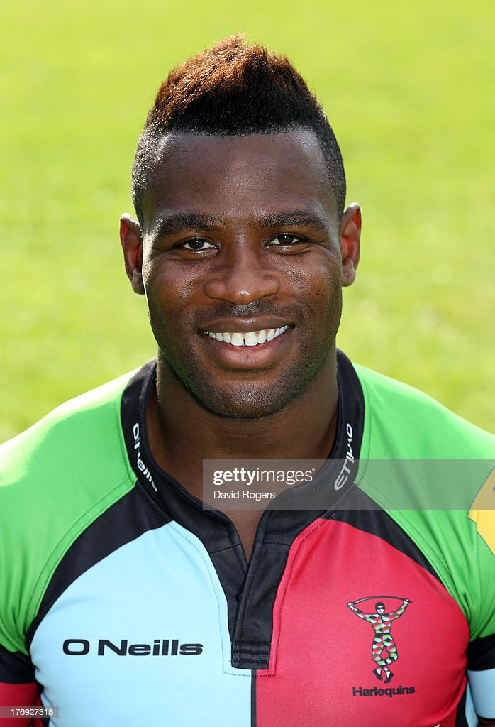 <a gi-track='captionPersonalityLinkClicked' href=/galleries/search?phrase=Ugo+Monye&family=editorial&specificpeople=221264 ng-click='$event.stopPropagation()'>Ugo Monye</a> of Harlequins poses for a portrait at the Surrey Sports Park on August 19, 2013 in Guildford, England.