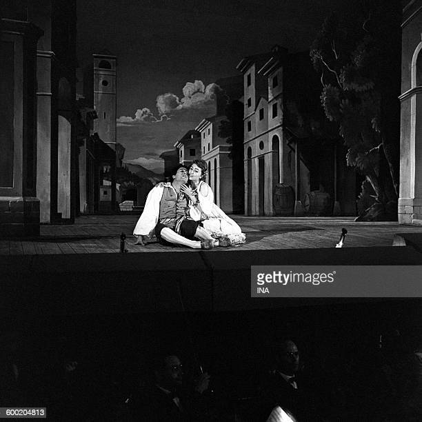 Ugo Trama and Mariella Adani in a scene of the opera of Mozart 'Don Giovanni' played the Festival of AixenProvence