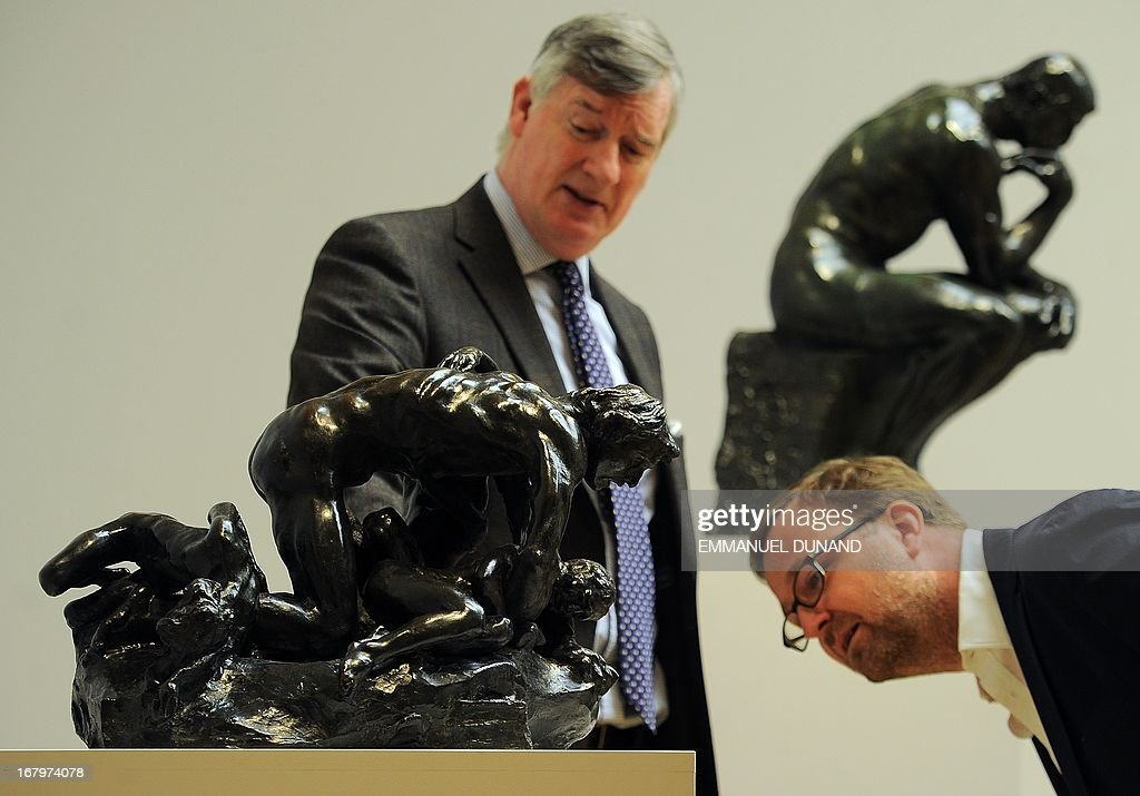 'Ugolin et ses enfants' by Auguste Rodin is on display during a preview of Sotheby's Impressionist and Modern Art sales in New York on May 3, 2013. Sotheby's is scheduled to hold its Impressionist and Modern Art sales May 7. AFP PHOTO/Emmanuel Dunand ++RESTRICTED