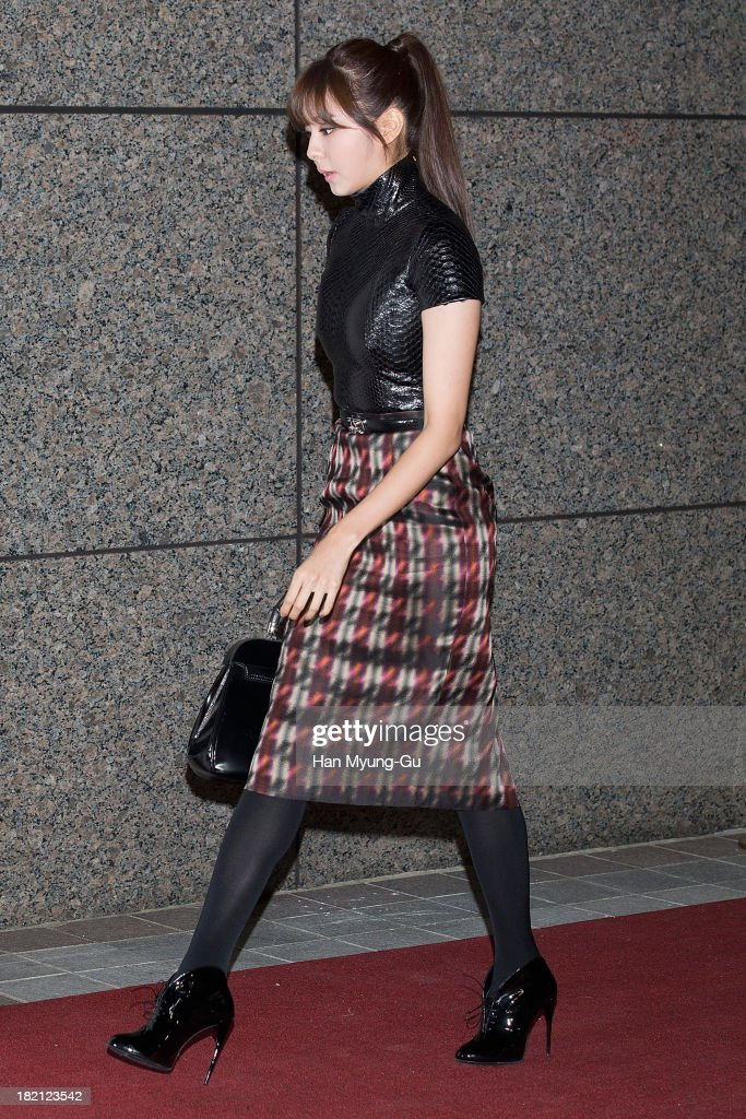U-ie (Kim You-Jin) of South Korean girl group After School attends VOGUE Fashion Night Out at Shinsegae Department Store on September 27, 2013 in Seoul, South Korea.