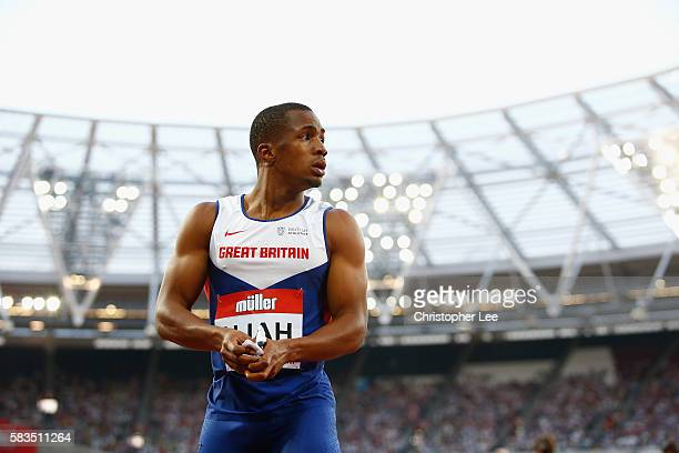Ujah of Great Britain during Day One of the Muller Anniversary Games at The Stadium Queen Elizabeth Olympic Park on July 22 2016 in London England