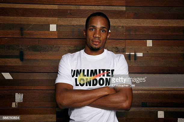 Ujah poses after the Unlimited London Parade at Nike Town on July 24 2016 in London England