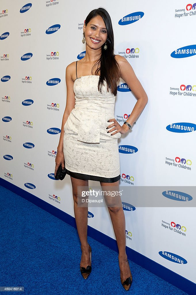 Ujjwala Raut attends the 13th Annual Samsung Hope For Children Gala at Cipriani Wall Street on June 10, 2014 in New York City.