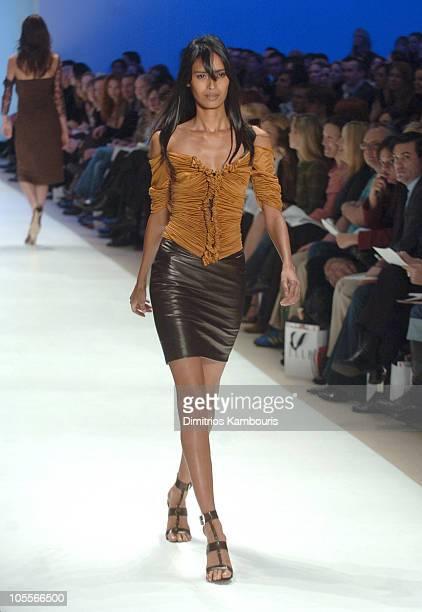 Ujjwala Raut wearing Wendy Pepper for 'Project Runway' Fall 2005