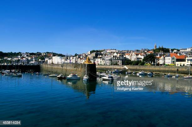 Uk Channel Islands Guernsey St Peter Port Port
