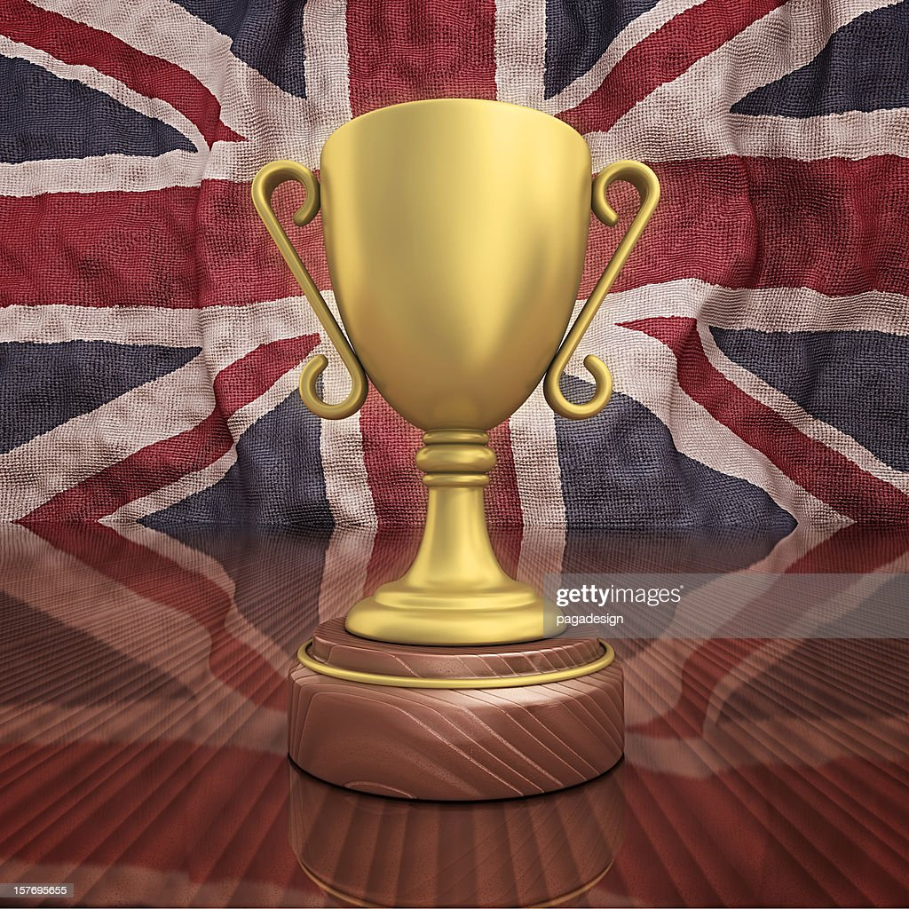 UK gold-Trophäe : Stock-Foto