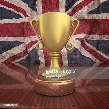 uk gold trophy : Stock Photo