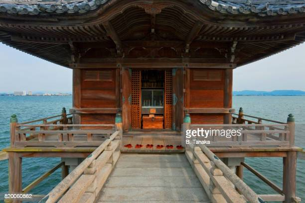 Ukimido Floating Temple at Lake Biwa in Japan's Shiga Prefecture