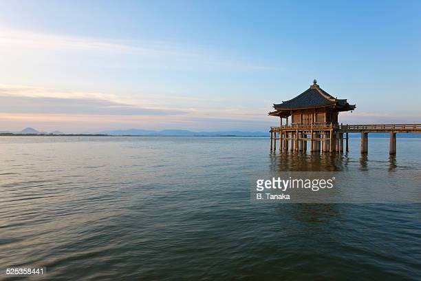 Ukimido Floating Temple on Lake Biwa, Japan