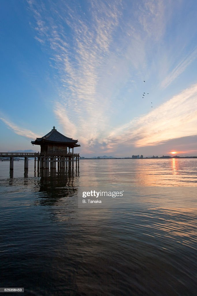 Ukimido Floating Temple on Lake Biwa, Japan