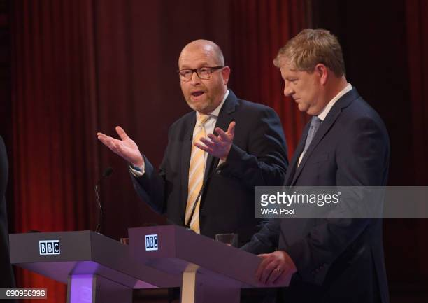 Ukip leader Paul Nuttall and SNP deputy leader Angus Robertson take part in the BBC Election Debate hosted by BBC news presenter Mishal Husain as it...