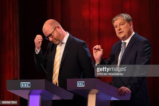 Ukip leader Paul Nuttall and SNP deputy leader Angus Robertson take part in the BBC Election Debate hosted by BBC news presenter Mishal Husain and...