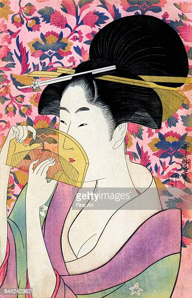 Ukiyoe woodblock print circa 1780s private collection