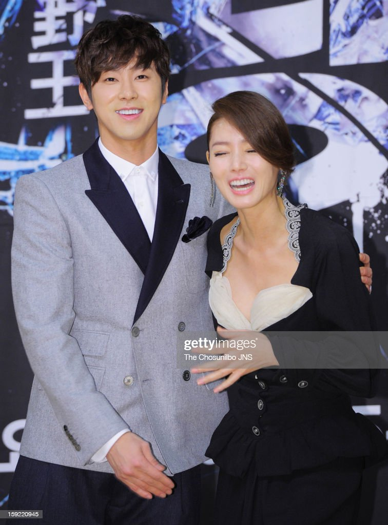 U-Know and Kim Sung-Ryeong attend the SBS Drama 'Yawang' press conference at SBS Building on January 9, 2013 in Seoul, South Korea.
