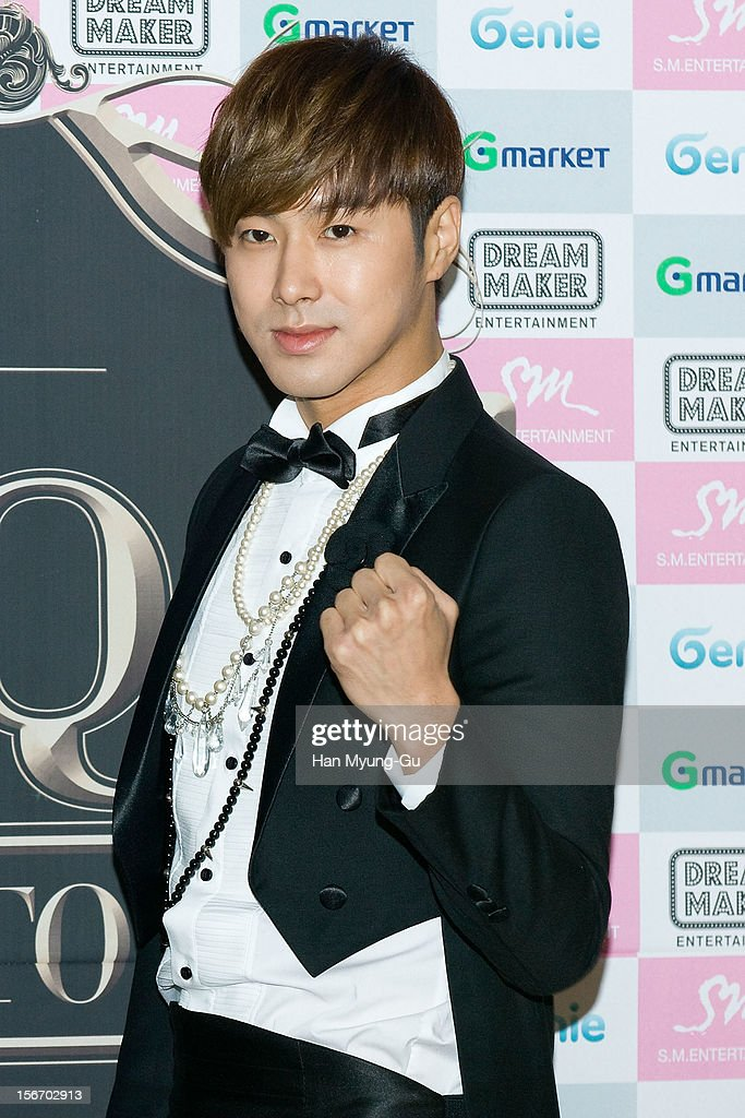 <a gi-track='captionPersonalityLinkClicked' href=/galleries/search?phrase=U-Know&family=editorial&specificpeople=8263253 ng-click='$event.stopPropagation()'>U-Know</a> of South Korean boy band TVXQ attends during a press conference before their World Tour concert 'Catch Me' at the Olympic Gymnasium on November 18, 2012 in Seoul, South Korea.