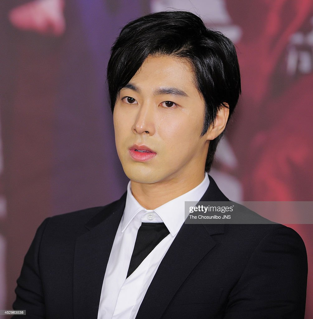 Know of TVXQ attends the drama 'The Night Watchman' press conference at 63 Square on July 29 2014 in Seoul South Korea