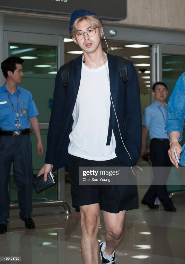 Know of TVXQ is seen at Gimpo International Airport on May 31 2014 in Seoul South Korea