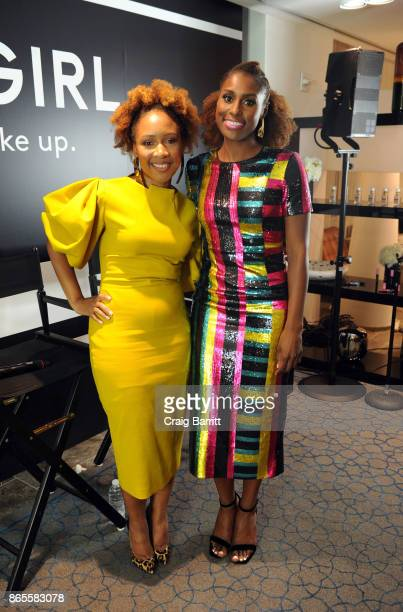 Ukonwa Ojo and Issa Rae attend Fast Company Innovation Festival Issa Rae and CoverGirl's Ukonwa Ojo on The Business Of Beauty and Transformation From...