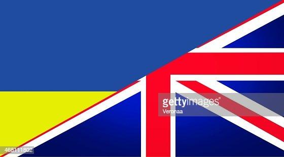 Ukraine and British flag