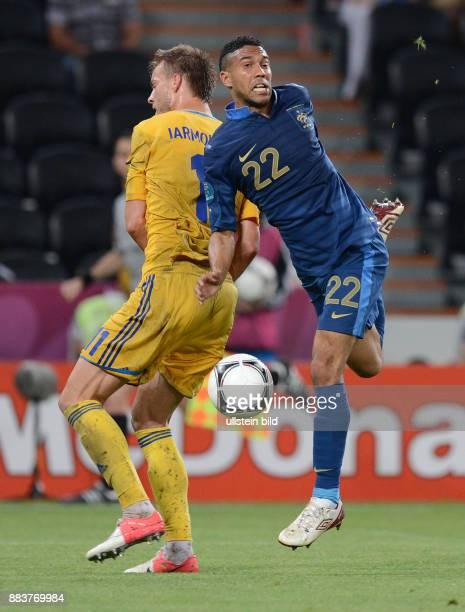 FUSSBALL EUROPAMEISTERSCHAFT Ukraine Frankreich Andriy Yarmolenko gegen Gael Clichy
